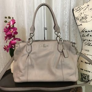 COACH F33447 Colette Leather Carryall Gray Birch